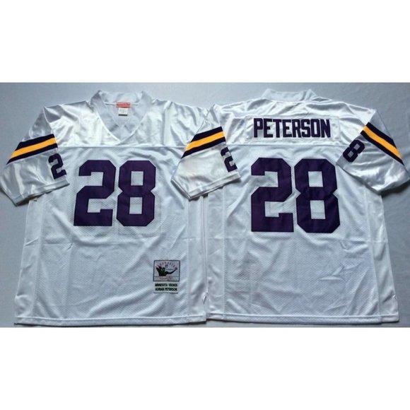 Minnesota Vikings Adrian Peterson White Jersey